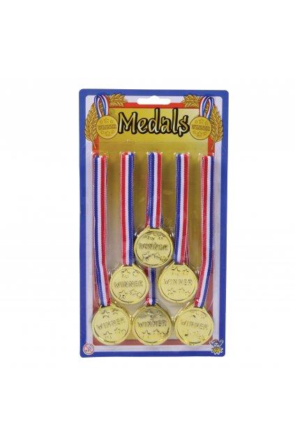 Zlaté medaile - sada 6ks