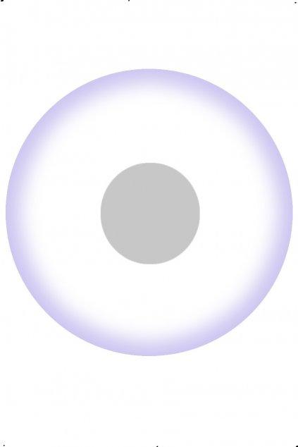 Bílé UV svítící kontaktní čočky