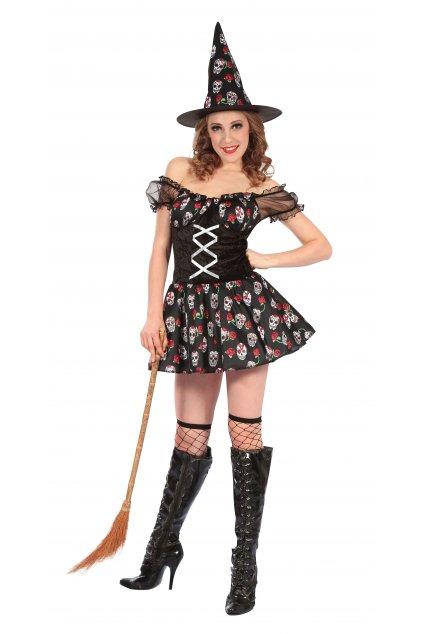 Dámský kostým čarodějnice muerte