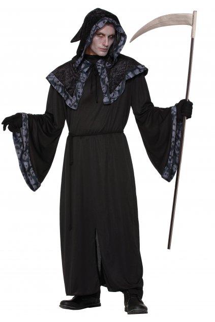 Čaroděj - černá kápě s kapucí
