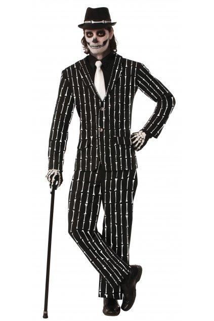 Oblek kostlivec - pánský kostým na Halloween