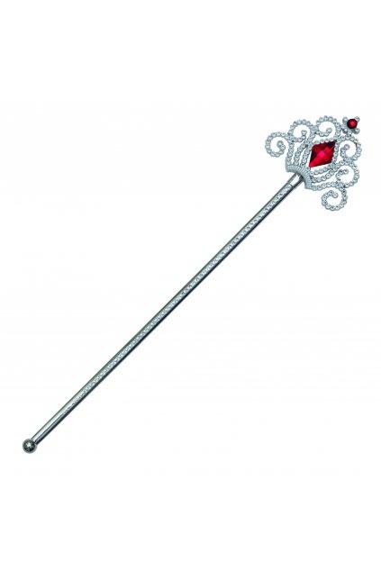 Stříbrná hůlka pro princeznu - červený diamant