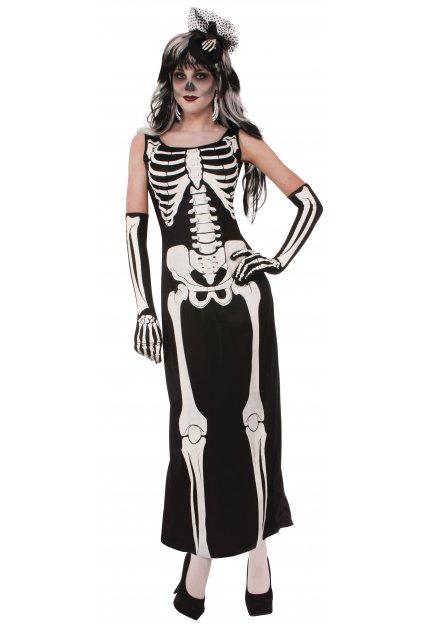 Kostlivec - dámský kostým na Halloween