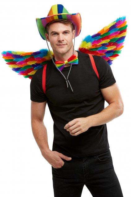 Duhová péřová křídla - Pride
