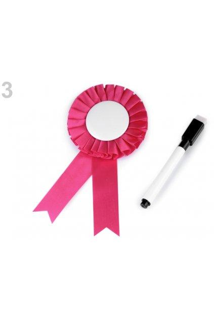 Brož tmavě růžová - popisovatelná - Rozlučka se svobodou