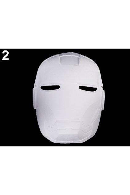 Iron Man - karnevalová maska - škraboška k domalování