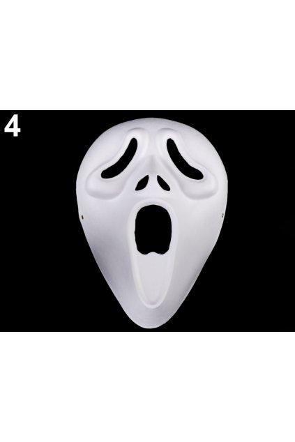 Vřískot - karnevalová maska - škraboška k domalování
