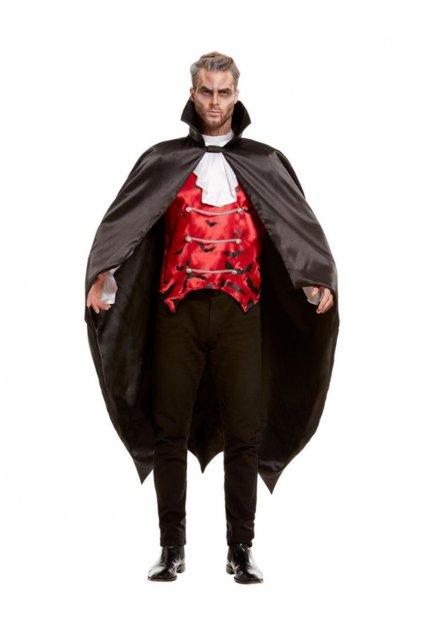 Kostým upíra - černý dlouhý plášť
