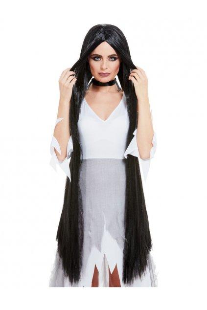 Černá dlouhá paruka 120cm
