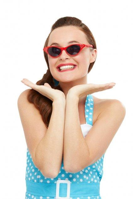 Dámské retro brýle - červené