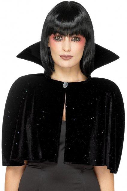 Černý plášť se stojacím límcem - Evil Queen