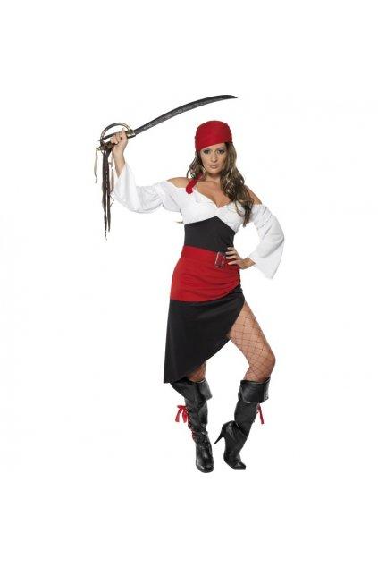 kostym krasna piratka