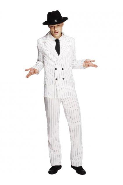 Kostým gangster - bílý
