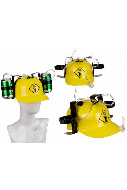 Pivní helma - muž v práci