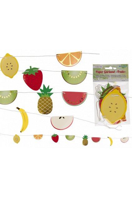 Ovoce - papírová girlanda 100cm