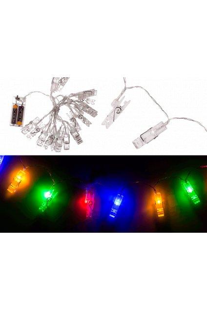 Svítící kolíčky 180cm světelný řetěz