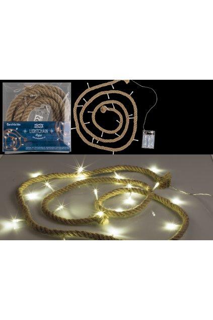 Svítící lano 200cm světelný řetěz