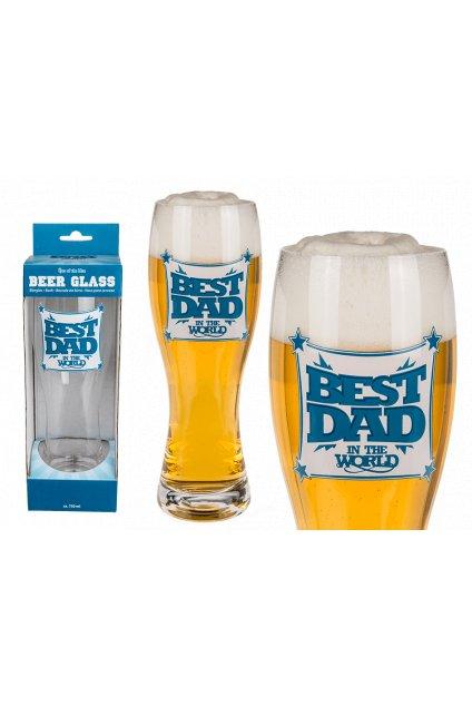 Nejlepší táta - pivní sklenice 750ml