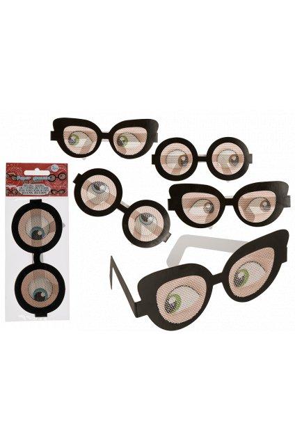 Šilhající oči - papírové brýle