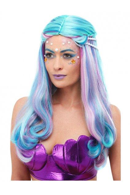 Mořská panna - dámská paruka modrá