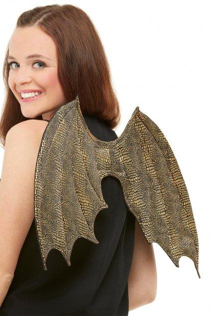 Dračí křídla - zlatá křídla drak
