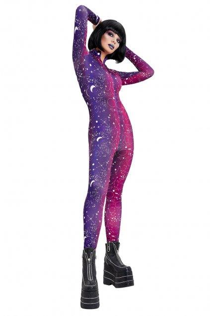 Fialovo růžový overal - Galactic Bodysuit