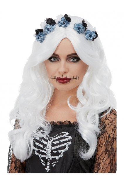 Dámská bílá paruka čarodějnice