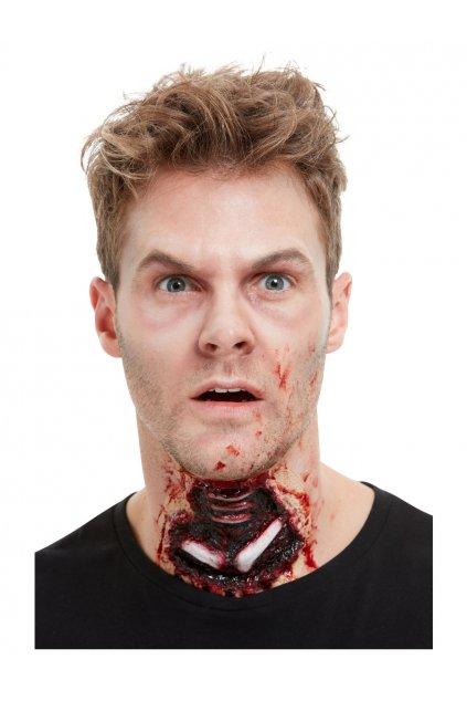 Umělé zranění krvavé hrdlo