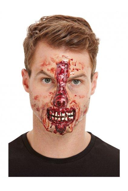 Falešné zranění krvavý nos a pusa