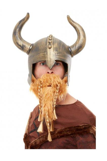 Vikingská helma a vousy Deluxe