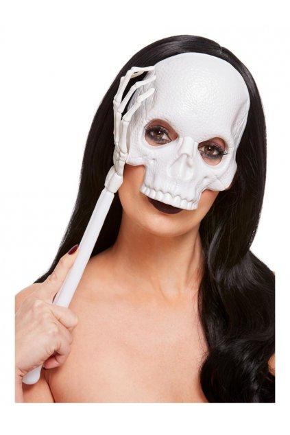 Maska kostry bílá