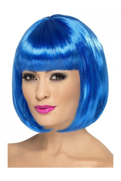 Modrá dámská paruka - Partyrama