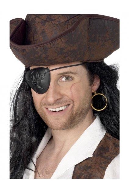 Pirátská páska přes oko a náušnice
