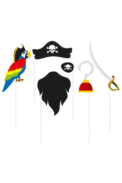 photo booth props pirate 6 elements