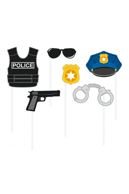 photo booth props police 6 elements