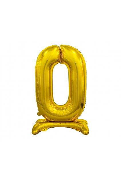 b c standing foil balloon digit 0 gold 74 cm