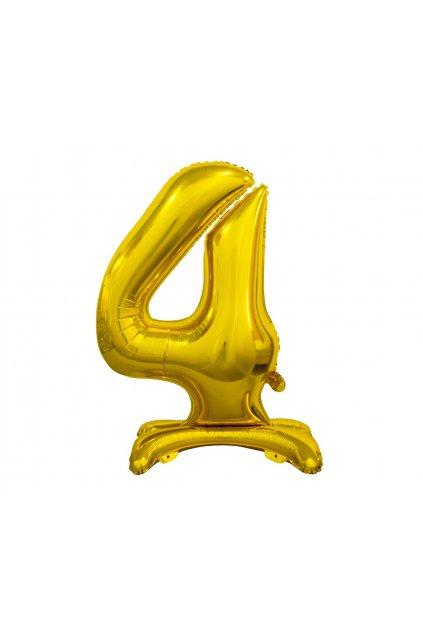 b c standing foil balloon digit 4 gold 74 cm