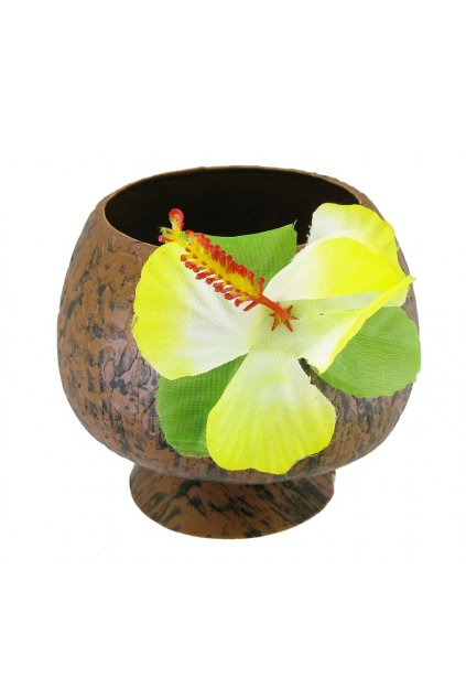 coconut cup with a flower