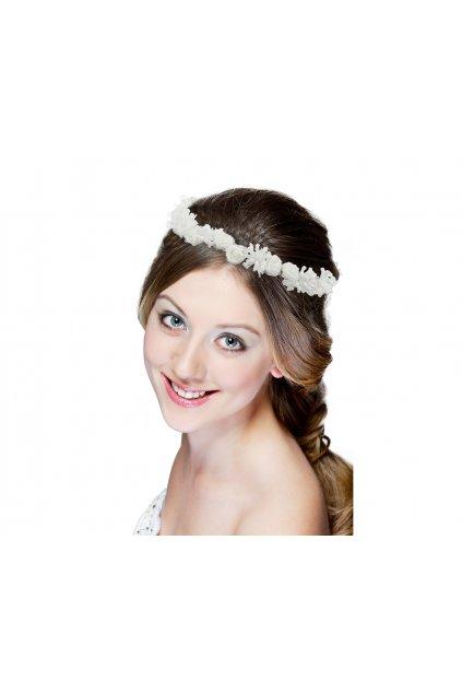 headpiece white flower