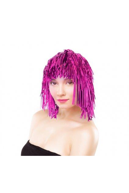 foil wig pink