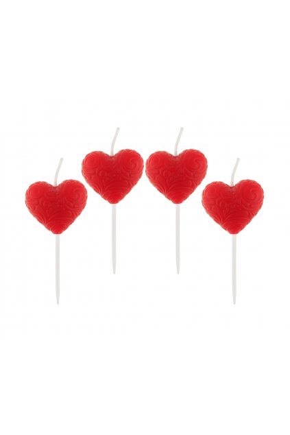 pick candles hearts 4 pcs