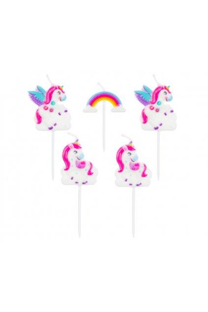 pick candles unicorn 5 pcs
