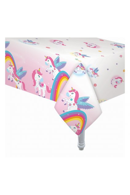 foil table cover rainbow unicorn