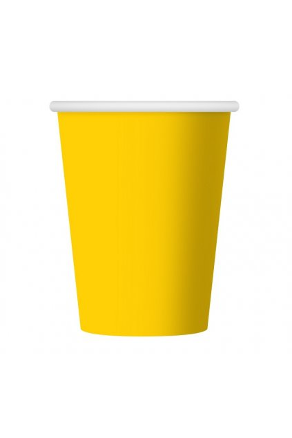 paper cups one coloured yellow 270 ml 6 pcs