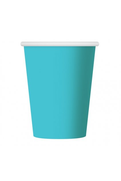 paper cups one coloured light blue 270 ml 6 p
