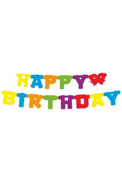 paper garland happy birthday colorful 160 cm