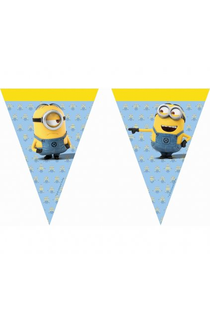 banner lovely minions flags