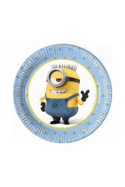 paper plates lovely minions 20 cm 8 pcs