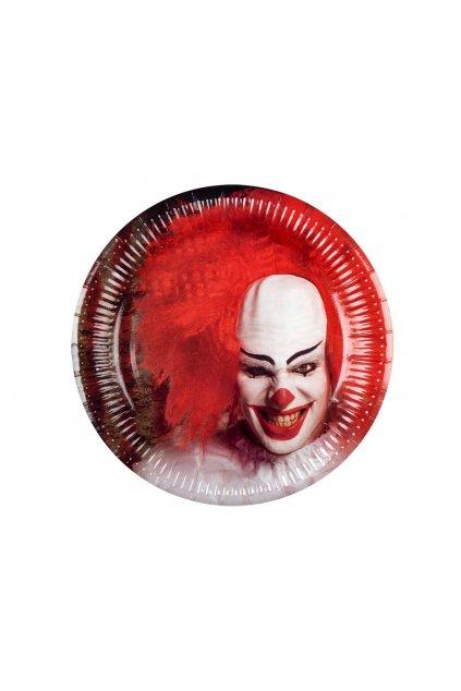 paper plates horror clown 23 cm 6 pcs