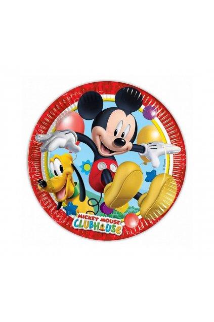 paper plates playfull mickey 20 cm 8 pcs